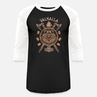 234d5f0f0 Viking VIKINGS RISE - Valhalla Viking Shield - Unisex Baseball T-Shirt