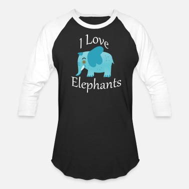 Kid Friendly I Love Elephants Cute Kids Friendly Elephant - Baseball T-Shirt