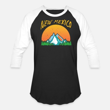 Mexico Retro Retro New Mexico Design - Baseball T-Shirt