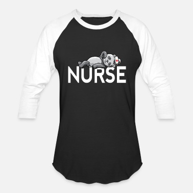 Care Nurse Panda Nursing Shirt - Animal lovers gift - Baseball T-Shirt