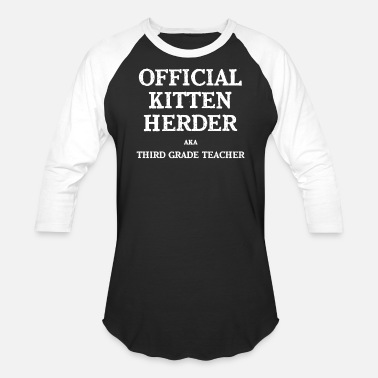 Grade Official Kitten Herder Third Grade Funny Third Grade 3rd Teacher Appreciation Gift - Baseball T-Shirt