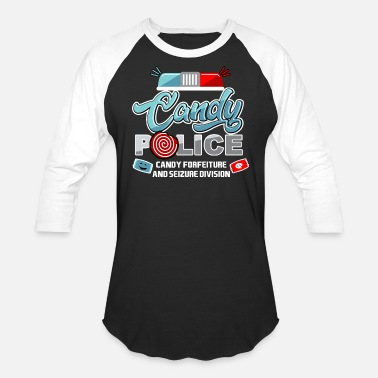 Naughty Trick Or Treat Candy Police Halloween Trick or Treat for Kids Dark - Baseball T-Shirt