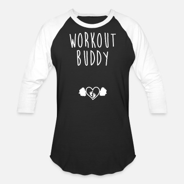 Buddy Workout Buddy Pregnant Mom Gym - Unisex Baseball T-Shirt