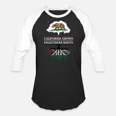Palestinian California Grown with Palestinian Roots - Baseball T-Shirt
