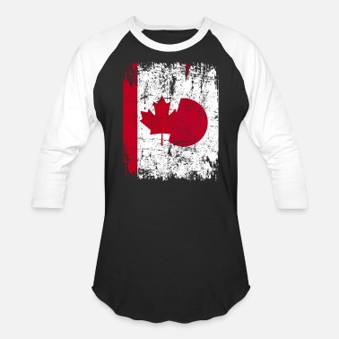 Japan CANADA JAPAN FLAG - Unisex Baseball T-Shirt
