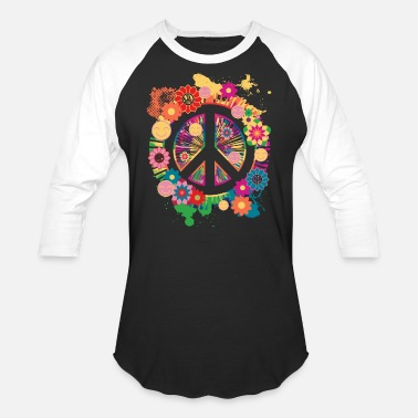 505bb7a56 Womens Ladies Peace Sign T-Shirt Gift - Unisex Baseball T-Shirt