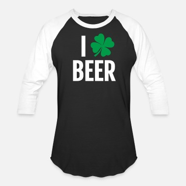 Funny St. Patricks Day Irish Beer Shamrock Gift I - Baseball T-Shirt