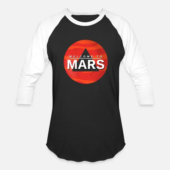 Mars T-Shirts - Mars Gift Planet Space Kids Baby - Unisex Baseball T-Shirt black/white
