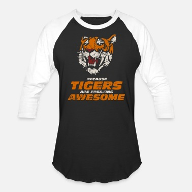 Awesome Tiger - Unisex Baseball T-Shirt