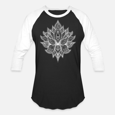 Lotus Blossom Indian Buddhist flower of life Mandala - Unisex Baseball T-Shirt