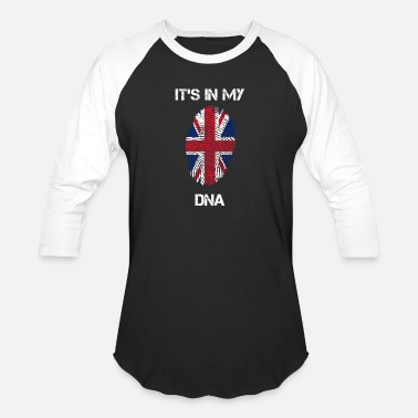 Uk DNA UK - Unisex Baseball T-Shirt