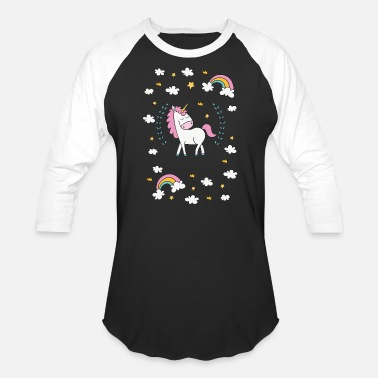 Underwater Unicorn unicorn under the rainbow - Baseball T-Shirt