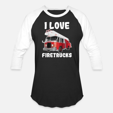 Firetruck Kids I Love Firetrucks Shirt Cute Funny Tee For Ki - Unisex Baseball T-Shirt