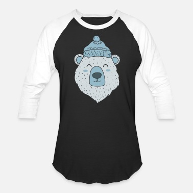 Winter polar bear Ice Bear Icebear Winter Winter Hat gift - Unisex Baseball T-Shirt
