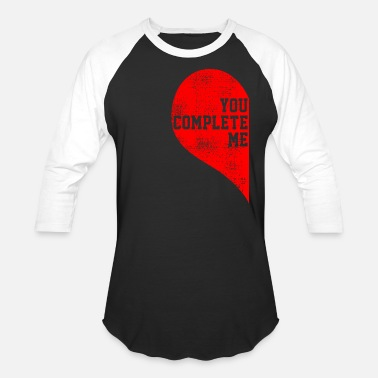 Half Of Heart Valentine's Day heart half - Baseball T-Shirt