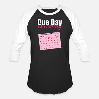 Date Of Birth Pregnancy due date birth gift - Unisex Baseball T-Shirt