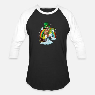 St Patrick's Day Sloth on a Unicorn T Shirt Irish - Unisex Baseball T-Shirt