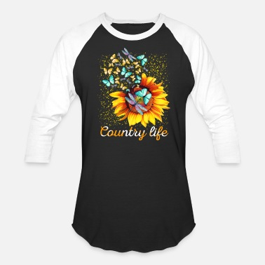 Country Life Sunflowers T shirt Gift - Unisex Baseball T-Shirt
