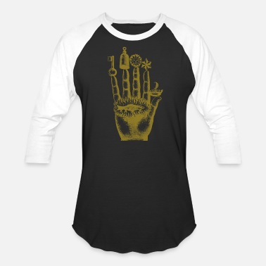 Mystical Sorcerer Hand Alchemy Mysticism Occult Medieval - Unisex Baseball T-Shirt