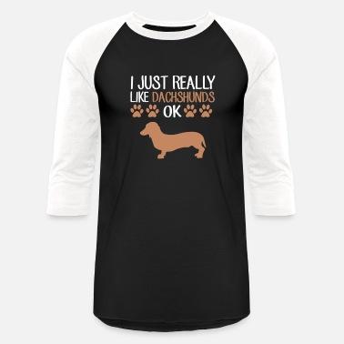 019caff81 Funny Weiner Dog Dachshund T-Shirt Cute Dog Lovers - Unisex Baseball T-Shirt