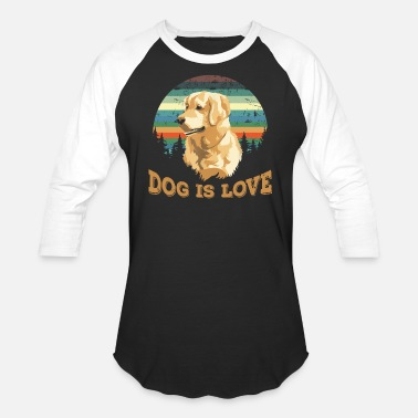 Dog Is Love Golden Retriever Dog is love Golden retriever vintage T shirt - Unisex Baseball T-Shirt
