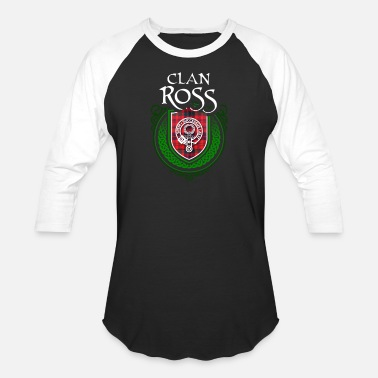 Tartan Ross Surname Scottish Clan Tartan - Unisex Baseball T-Shirt