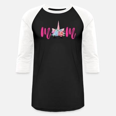 aa6fbdb0d Womens Unicorn Mom Birthday Shirt Matching Family - Unisex Baseball T-Shirt