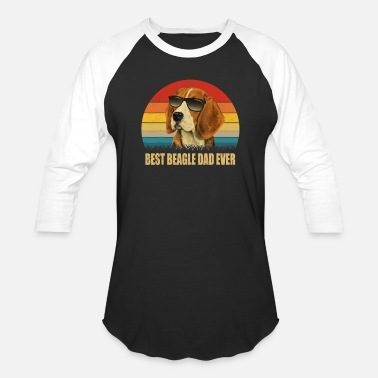 Beagle Best Beagle Dog Dad Ever T shirt Gift - Unisex Baseball T-Shirt
