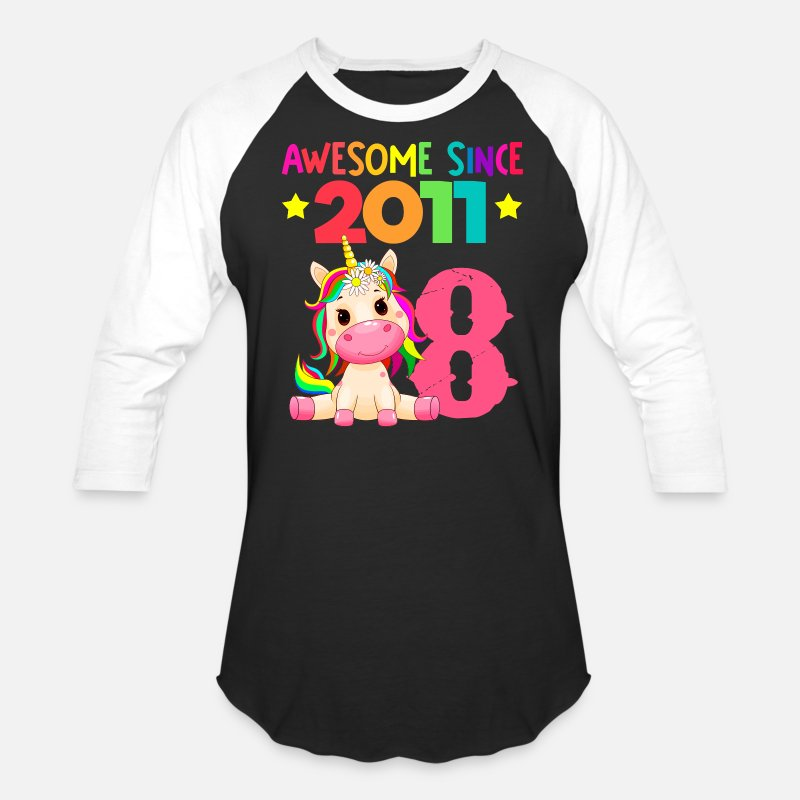 Dabbing Unicorn Shirt Personalized Gift for a Girl Pink raglan  Baseball shirt