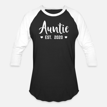 Aunt New Aunt 2020 Pregnancy Announcement Gift Auntie - Unisex Baseball T-Shirt