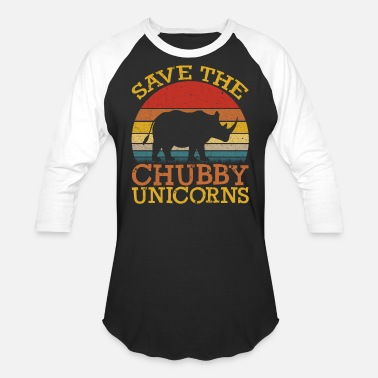 Save Save the Chubby Unicorns - Unisex Baseball T-Shirt