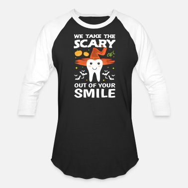 Dentist Cute Monster Tooth Dentist Halloween Outfit Gift - Unisex Baseball T-Shirt
