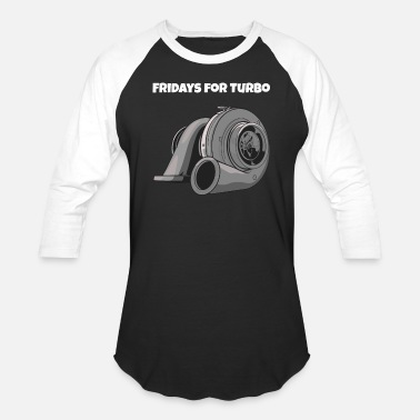 Turbo Fridays For Turbo - Unisex Baseball T-Shirt