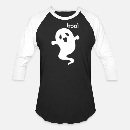 Death T-Shirts - Ghost - Unisex Baseball T-Shirt black/white