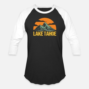 Lake Lake Tahoe Vintage Nevada Retro - Unisex Baseball T-Shirt
