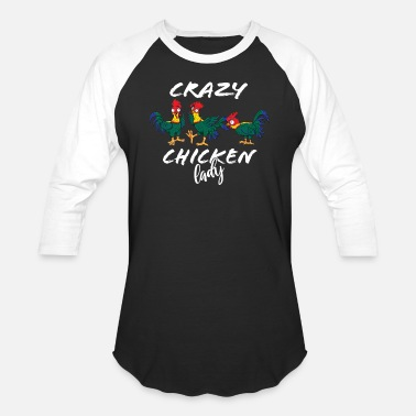 Rooster Crazy Chicken Lady - Unisex Baseball T-Shirt