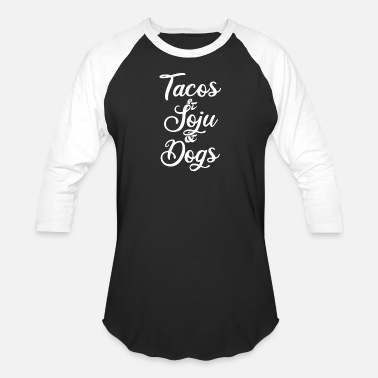 Dog Party Tacos, Soju, Dogs - Unisex Baseball T-Shirt
