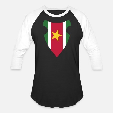 Country SURINAME FLAG - Unisex Baseball T-Shirt