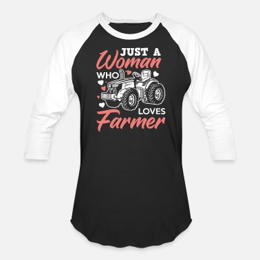 Cow farmer husband wife - Unisex Baseball T-Shirt