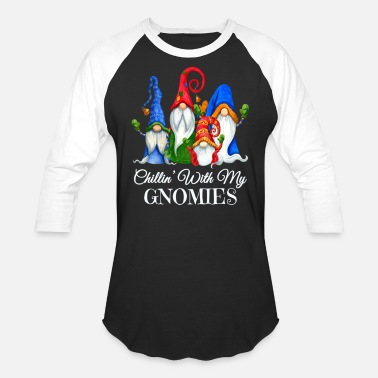 Just Hangin' With My Gnomies Christmas, I L - Unisex Baseball T-Shirt