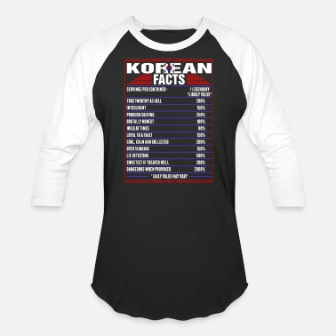 Korean Korean Facts Tshirt - Baseball T-Shirt