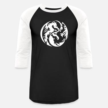 93fd73b1a1bc9 Yin Yang Tribal Dragon new design Yin Yang tribal dragon best seller -  Unisex Baseball T
