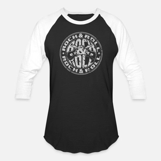 Rock T-Shirts - Rock & Roll - Unisex Baseball T-Shirt black/white