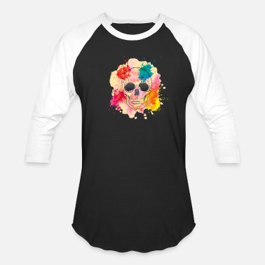 Color Splash GIFT - COLOR SPLASH SKULL - Unisex Baseball T-Shirt