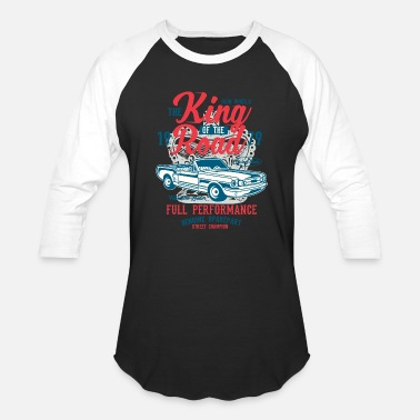 Road Construction King Of The Road - Baseball T-Shirt