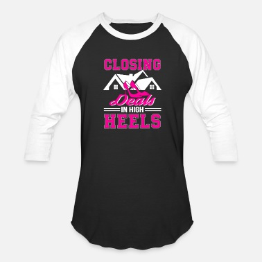 Close Deals closing deals in high heels - Unisex Baseball T-Shirt