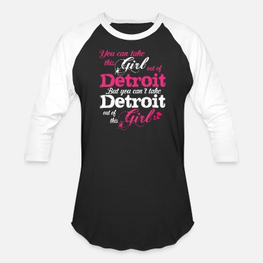 Womens Detroit This Girl Love Detroit - Unisex Baseball T-Shirt