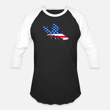 Crawfish Crawfish Flag Crawfish 4th of july T-shirt - Unisex Baseball T-Shirt