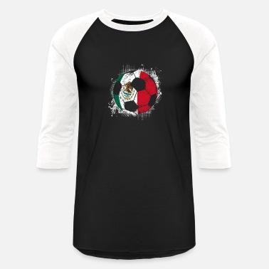289c915c439 Mexico Soccer Team (Gift) Mexico distress soccer 001 - Unisex Baseball T- Shirt