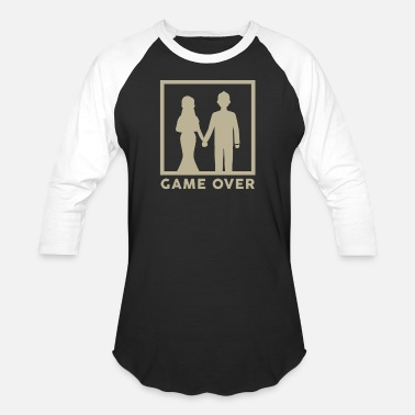 Wedding FUNNY WEDDING TSHIRT GIFTS GAME OVER COUPLE - Unisex Baseball T-Shirt